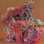 かぎ針とアクリル毛糸を使ったエコたわし作り